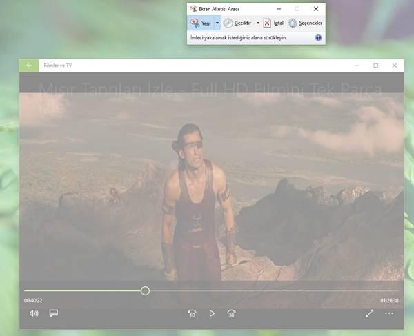 Ekran Alıntısı Aracı ekran görüntüsü alma 1