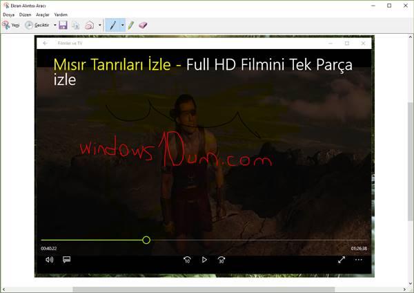 Ekran Alıntısı Aracı ekran görüntüsü alma 2