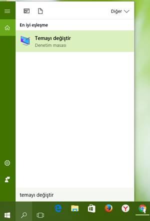 windows 10 tema değiştirme 1