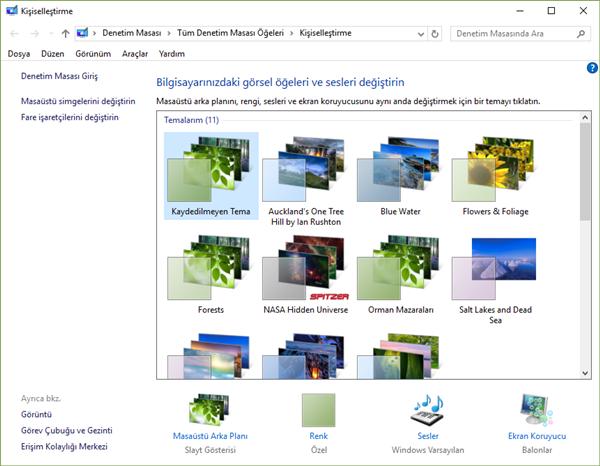 windows 10 tema değiştirme 2