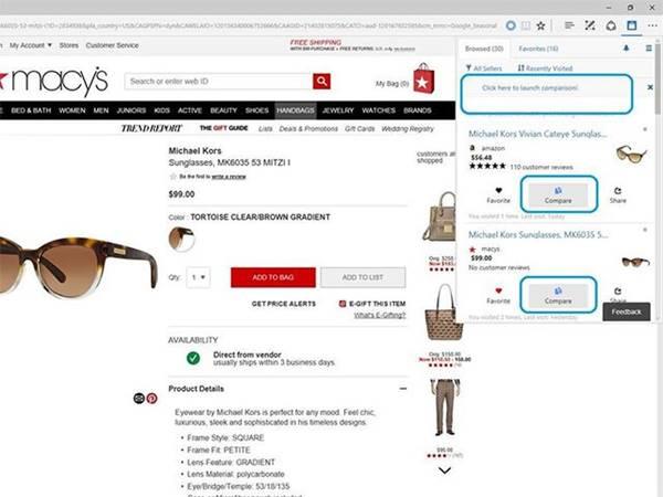 Microsoft Edge Sanal Alışveriş Asistanı