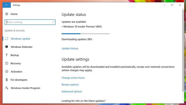 Windows 10 Insider Preview 14915