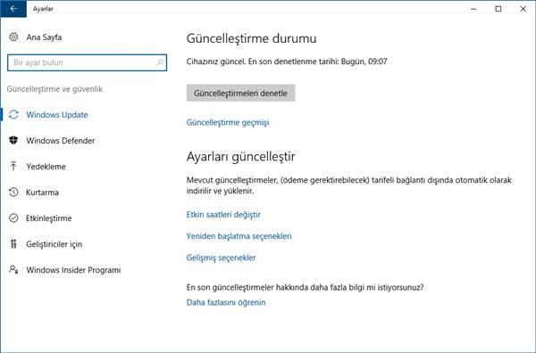 windows 10 güncelleme ile ilgili görsel sonucu