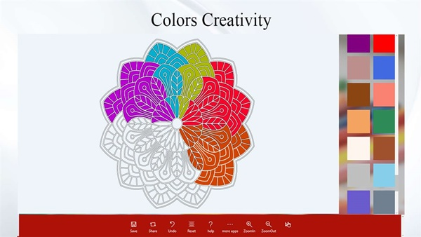 Abstract Coloring Book program