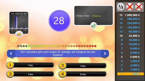 Milyoner Bilgi Yarışı oyunu
