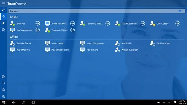TeamViewer Remote Control uygulaması