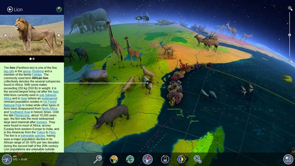 Earth 3D animals maps