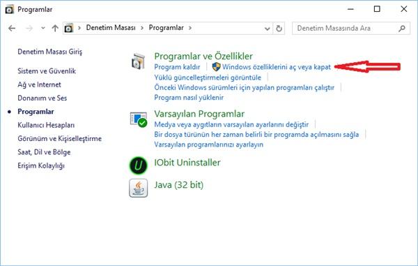 programlar ve özellikleri