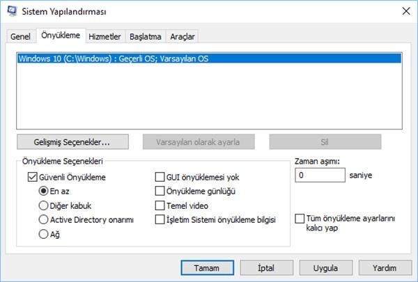 windows 10 önyükleme ekranı