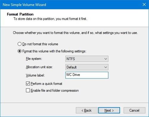 windows 10 yeni bölüm oluşturma 3