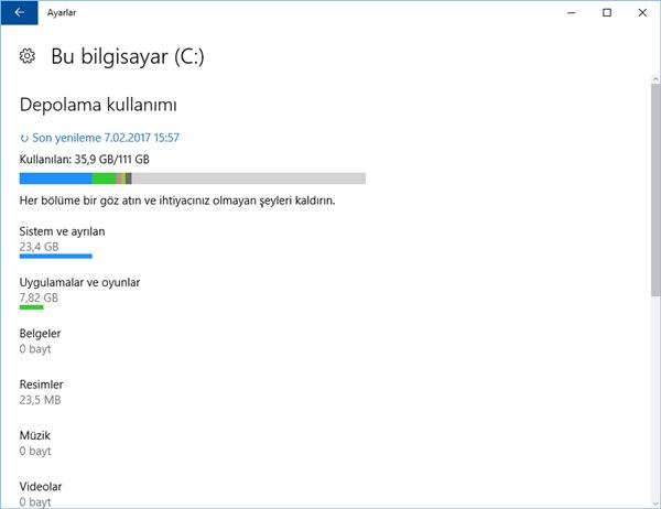 windows depolama alanı temizleme 1