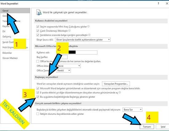 MS Word'ü Boş Sayfa İle Başlatma