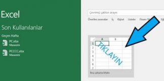 Microsoft Excel'de varsayılan kayıt yerini değiştirmeMicrosoft Excel'de varsayılan kayıt yerini değiştirme