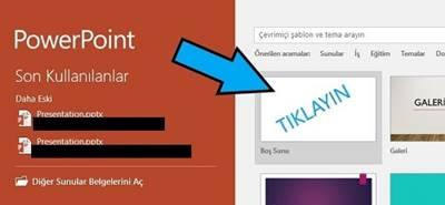 Microsoft PowerPoint varsayılan kayıt yeri değiştirme