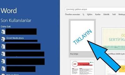 Microsoft Word varsayılan kaydetme yerini değiştirme