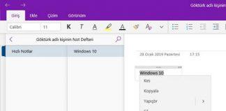 Microsoft OneNote yazım hataları düzenleme dili nasıl ayarlanır