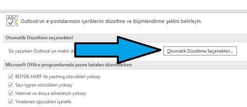 Outlook'ta akıllı tırnak işaretlerini düz tırnak işaretleriyle değiştirme