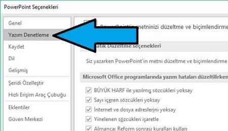 PowerPoint'te akıllı tırnak işaretlerini düz tırnak işaretleriyle değiştirme