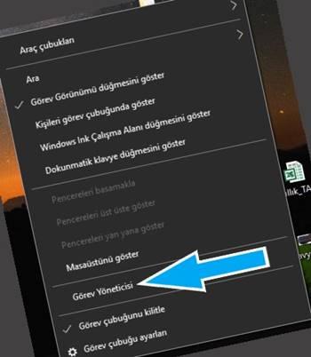 Windows 10 görev yöneticisi onarma