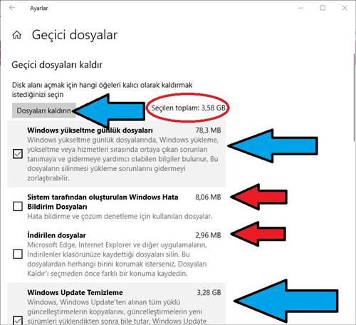 Windows 10 gereksiz dosyaları programsız silme
