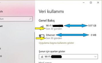 Bilgisayarım Kaç GB İnternet Kullanmış (Windows 10)