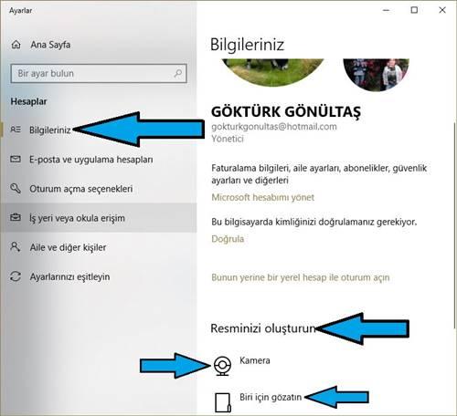 Windows 10 Hesap Resmi Nasıl Değiştirilir?