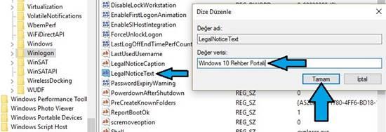 Windows açılış ekranına not yazma