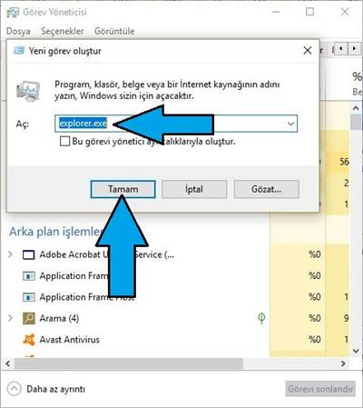 explorer.exe Çalışmıyor - Windows 10 explorer.exe Nasıl Açılır?